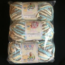 3 Skeins of Bernat Baby Blanket Yarn, 3.5 oz each **Choose C