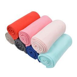 30 x 40 Inch Solid Color Soft Fleece Baby Blanket - Differen