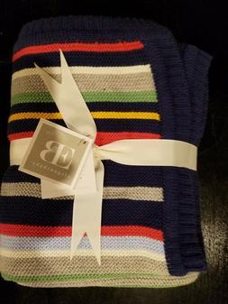 """Elegant Baby 30""""x40"""" Knit Baby Blanket, Stripe-Primary"""