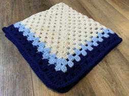 34x34 Handmade Crochet Baby Blanket Afghan Nursery Crib Bedd
