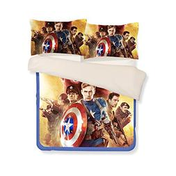 3D Captain America Bedding Sets - Sport Do Best Gifts for Mo