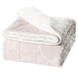 Soft Throw Blanket Sherpa Warm Fleece Throws for Baby Girl W