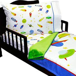 3pc RoomCraft Blast Off Toddler Bedding Set Outer Space Rock