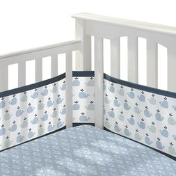 BreathableBaby 3pc Classic Crib Bedding Set - Little Whale N