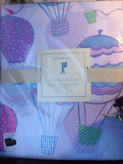 3pc Pottery Barn Kids Hot BALLOON Cotton Sheet Set TWIN NWT