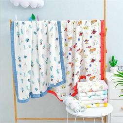 4 Layers Bamboo Cotton Baby Receiving Blankets Cotton Baby B