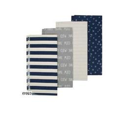 4-Pack Boys 100% Organic Cotton Flannel Receiving Blanket