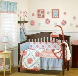 4-Pc CoCaLo Dahlia Crib Bedding Set Girl's Nursery White Pin