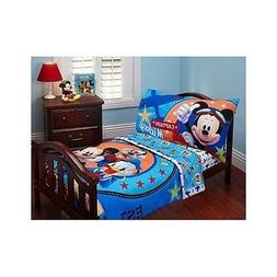 4 Pc Disney Mickey Mouse Toddler Boys Kids Comforter Bedding