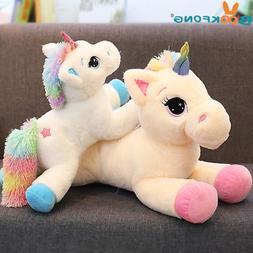 40-60cm Unicorn Stuffed Animals Plush Toy Animal Horse Carto