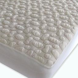 40-Winks Organic Cotton Pebble Puff Crib Mattress Pad Protec