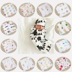 "47""*47"" Baby Infant Floral Swaddle Blanket Cotton Sleeping S"