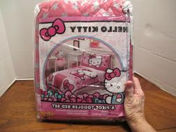 4pc Hello Kitty Toddler Sheet Set NIP w Quilt Pink White