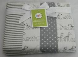 Circo 4pk Flannel Receiving Blankets - Two by Two 9 x 9 x 2.