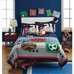 5 / 7 pc - Circo SPORTS Zone QUILT & SHAM + SHEET Set - Foot