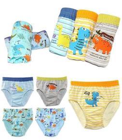 5 of Pack Toddler Boys' Dinosaur Cotton Underwear Briefs Cut