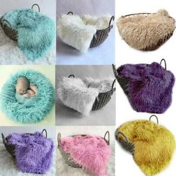 50*80cm Baby Cute Faux Fur Blanket Photography Swaddling for