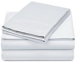 Pinzon 500-Thread-Count Pima Cotton Sateen Sheet Set - Queen