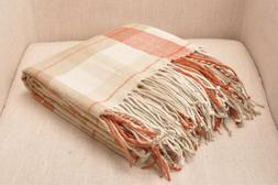 CHLOE'S COLLECTION Buffalo Plaid Blanket Throw With Fringe,