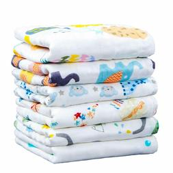 NTBAY 6 Layer Muslin Cotton Baby Washcloths Set of 6, Extra