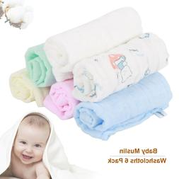 6 layers Cotton Natural Baby Towels with Printed Design Baby