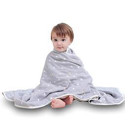 Uozzi Bedding 6 Layers of 100% Hypoallergenic Muslin Cotton