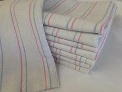 6 striped baby receiving swaddling hospital blankets large 3