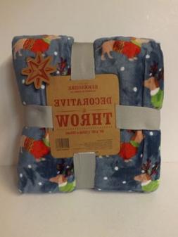 """Berkshire Blanket 60""""x80"""" Velvet Soft Holiday Throws-Sweater"""