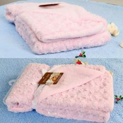 76*102cm Rose Velvet Baby Blanket Baby Swaddle Wrap Winter W