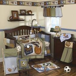 "8-Piece Crib Bedding Set ""Sports fan"""