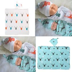 80x65cm Muslin Newborn Baby Blanket Bedding Wrap Swaddle Bat