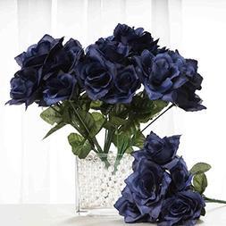 BalsaCircle 84 Silk Open Roses Wedding Flowers Bouquets - Na