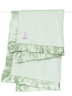 $89 LITTLE GIRAFFE Luxe Baby BLANKET Celadon Green Faux Fur