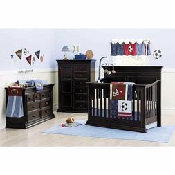 9pc NoJo Play Ball Sports Fan Baby Crib Bedding Set Soccer B