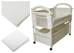 Arm's Reach Clear-Vue Co-Sleeper with Fitted Sheet & Mattres