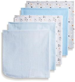 BON BEBE Boys' Paws Assorted 5 Pack Receiving Blankets, Pupp