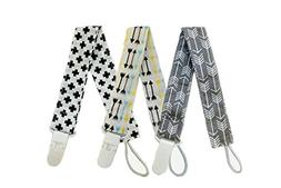 Baby Cotton Pacifier Clip 3 Pack Universal Pacifier Leashes