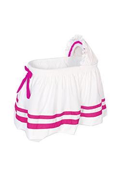 Baby Doll Bedding Modern Hotel Style II Bassinet Skirt, Hot