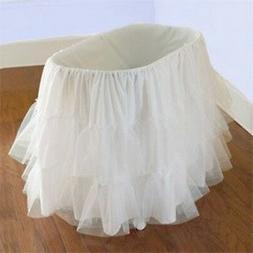 "Babydoll Bedding Bassinet Petticoat, 16"" x 32"""