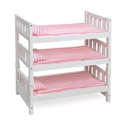 Badger Basket 1-2-3 Convertible Doll Bunk Bed , White/