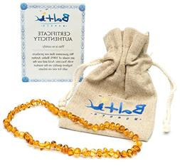 Baltic Amber Teething Necklace For Babies   - Anti Flammator