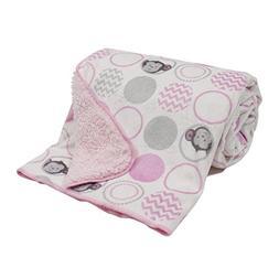 Bedtime Originals Pinkie Velour Sherpa Blanket