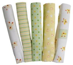 Big Oshi Baby Essentials 5 Pack Flannel Receiving Blankets,