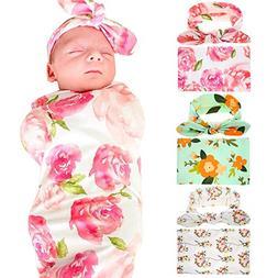 Receiving Blankets Sleep Sack Blanket With Headband for Baby