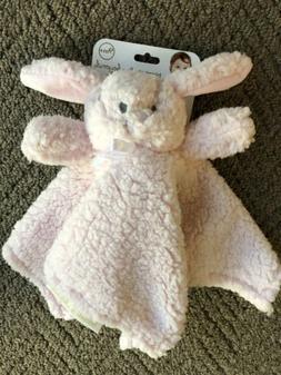Blankets & Beyond Pink Rosette Bunny Nunu - Baby Security Bl