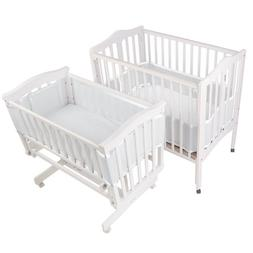 BreathableBaby | Mesh Crib Liner | Portable & Mini Cribs | M