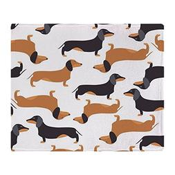 "CafePress - Cute Dachshunds - Soft Fleece Throw Blanket, 50"""