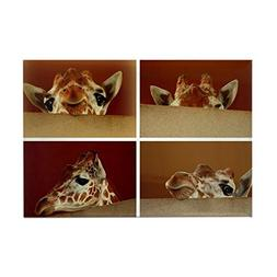 "CafePress - Giraffe Collage Magnets - Rectangle Magnet, 2""x3"