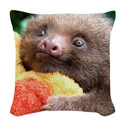 CafePress - Mateo The Baby Sloth On Throw Pillow - Woven Thr