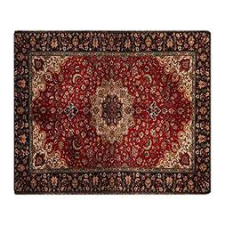 CafePress Persian Rug Red and Gold Soft Fleece Throw Blanket